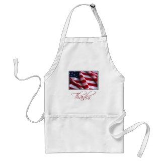 Avental Obrigados patrióticos da bandeira americana no
