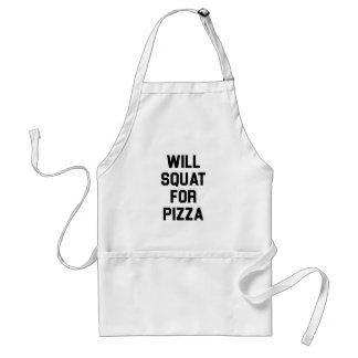 Avental Ocupa para a pizza