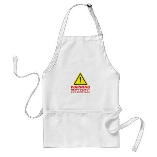 Avental Oject pesado de advertência