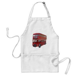 Avental Ônibus vermelho do autocarro de dois andares no