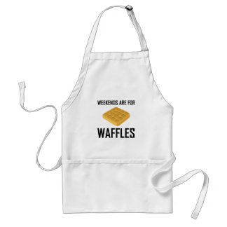 Avental Os fins de semana são para Waffles