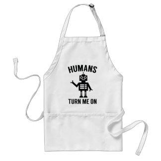 Avental Os seres humanos giram-me sobre