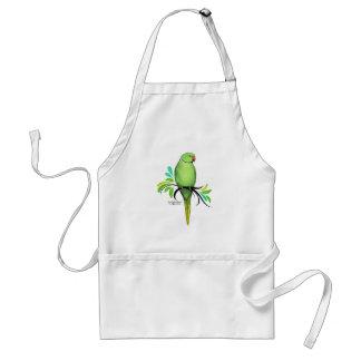 Avental Papagaio verde de Ringneck do indiano