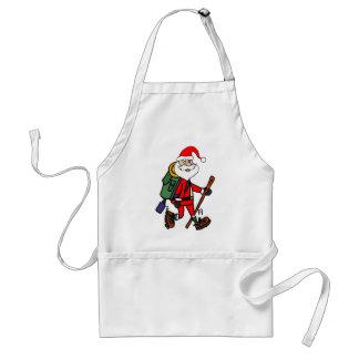 Avental Papai Noel bonito que caminha desenhos animados do