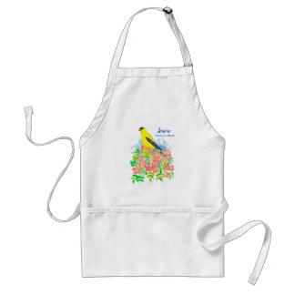 Avental Pássaro de estado oriental do Goldfinch dos rosas