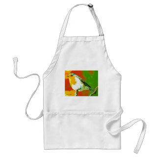 Avental Pássaro do pisco de peito vermelho