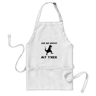 Avental Pergunte-me sobre T Rex engraçado