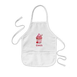 Avental personalizado rosa do cozimento do cupcake