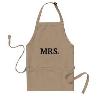 Avental personalize a Sra. Esposa Noiva Newlywed