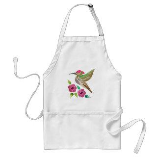Avental Pintura abstrata do colibri e do petúnia