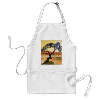 Avental Pintura de paisagem amarela da árvore da parte