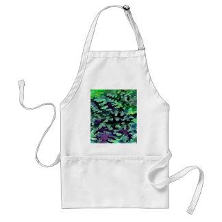 Avental Pop art abstrato da folha no verde e no roxo de