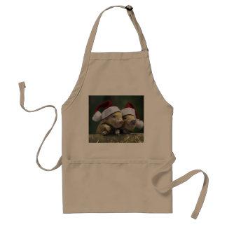 Avental Porco Papai Noel - porco do Natal - três porcos