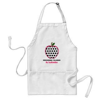 Avental pré-escolar do professor - bolinhas Apple