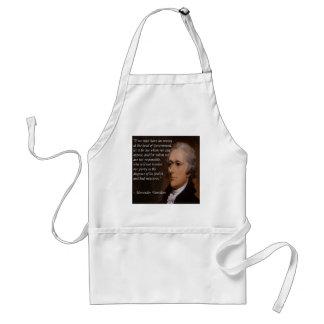 """Avental """"Presente do líder inimigo"""" de Alexander Hamilton"""