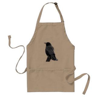 Avental preto do padrão do corvo