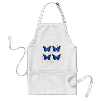 Avental Quatro borboletas azuis