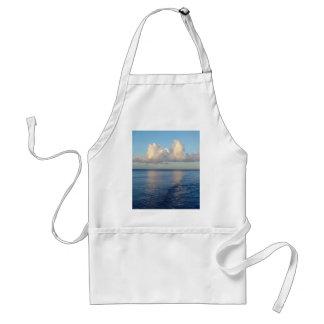 Avental Reflexões da nuvem do Seascape do amanhecer