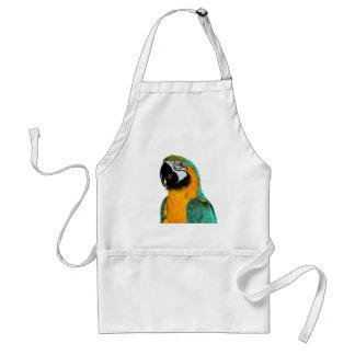 Avental retrato colorido do pássaro do papagaio do macaw