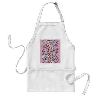 Avental Rosa Funky manchado de tinta da arte do teste