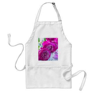 Avental rosas frescos