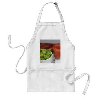 Avental Salada de agrião do molho do tomate da cenoura do