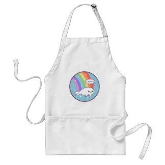 Avental Selo bonito do arco-íris