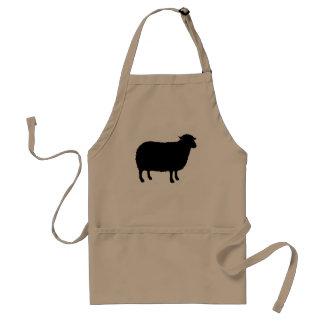 Avental Silhueta das ovelhas negras
