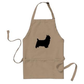 Avental Silhueta de Terrier de seda