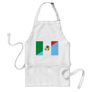 Avental símbolo do país da bandeira de México guatemala