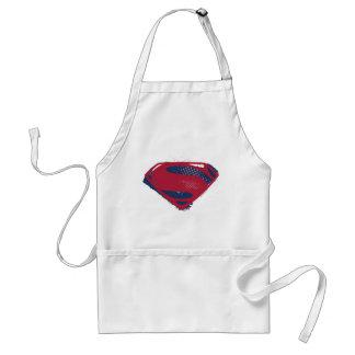 Avental Símbolo do superman da escova & da reticulação da