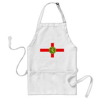 Avental Símbolo ingleses de Guernsey da bandeira de