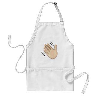 Avental Sinal de ondulação Emoji da mão