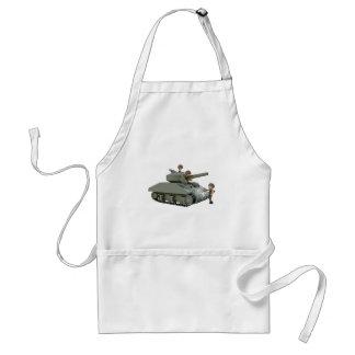 Avental Tanque e soldados dos desenhos animados na