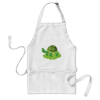 Avental tartaruga que anda na grama