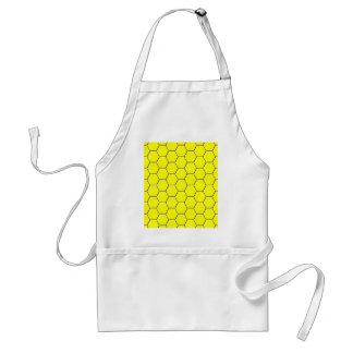Avental Teste padrão amarelo do favo de mel