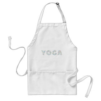 Avental Tipografia da ioga