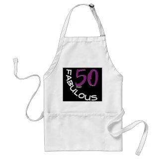 Avental Tipografia roxa & branca 50 e aniversário fabuloso