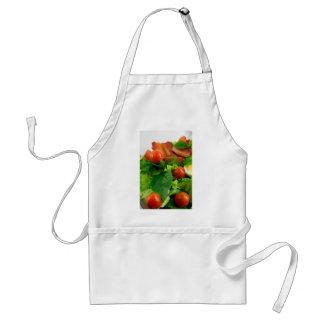 Avental Tomates de cereja, ervas, azeite, ovos e bacon