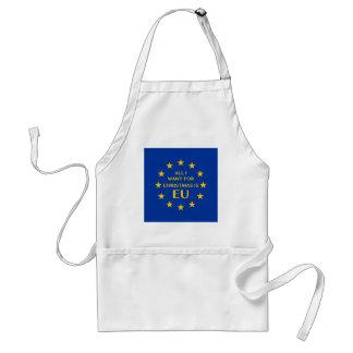 Avental Tudo que eu quero para o Natal é UE
