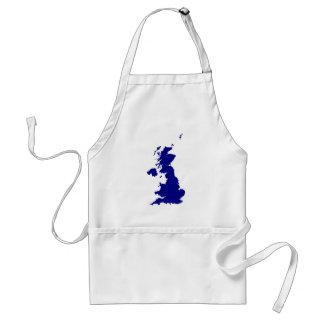 Avental U.K. e silhueta de Irlanda do Norte