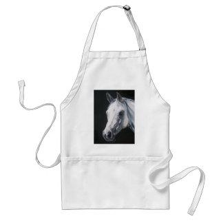 Avental Um cavalo branco
