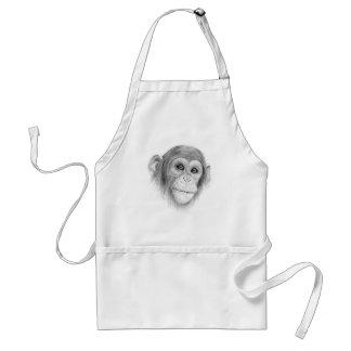 Avental Um chimpanzé, não monkeying ao redor o esboço
