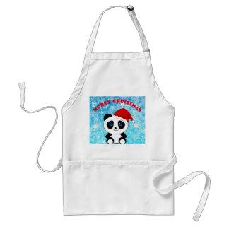 Avental Urso de panda do Feliz Natal