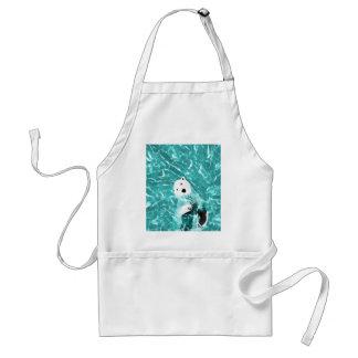 Avental Urso polar brincalhão no design da água de