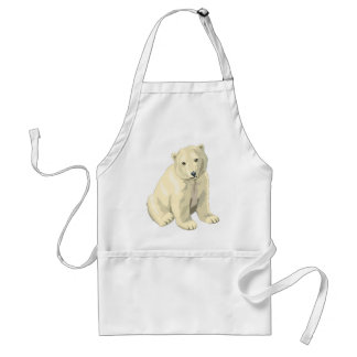 Avental Urso polar peluches