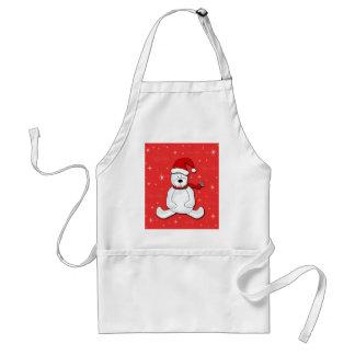 Avental Urso polar vermelho
