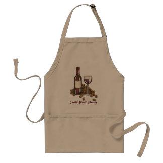 Avental Uvas da garrafa de vidro de vinho tinto do