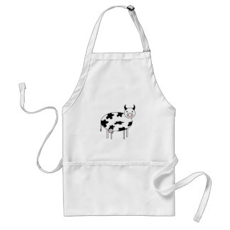 Avental Vaca ilustrada