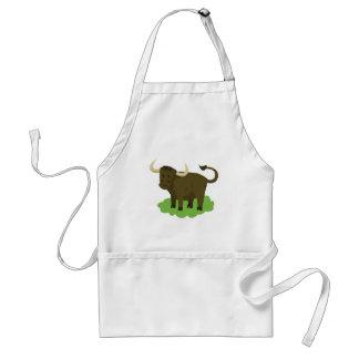 Avental vaca na grama